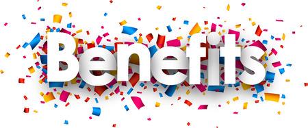 opening party: Beneficios firman con confeti de color. Vector de papel ilustraci�n. Vectores