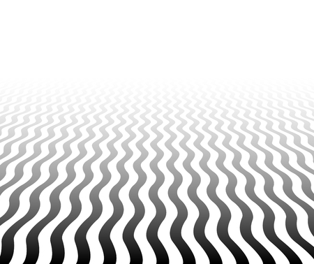 perspektiv: Perspective black and white background. Wavy surface. Vector illustration. Illustration