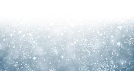 schneeflocke: Winter Hintergrund mit Schneeflocken und Platz f�r Text. Weihnachten blauen defocused Illustration. Eps10 Vektor.