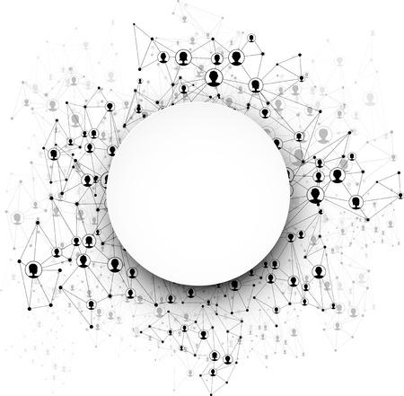 global communication: Global communication round background. Vector Illustration.