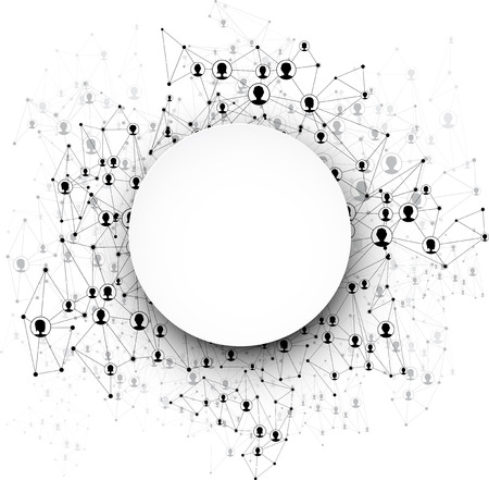 La comunicazione globale turno sfondo. Illustrazione vettoriale. Vettoriali