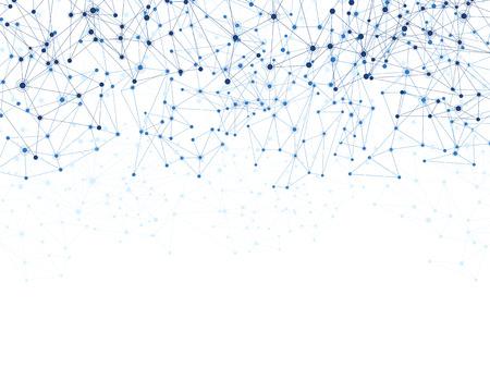通信ソーシャル ・ メッシュ。多角形の背景をネットワークします。ベクトルの図。  イラスト・ベクター素材