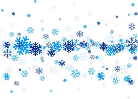blue snowflakes: Blue snowflakes. Winter illustration. Vector christmas background. Illustration