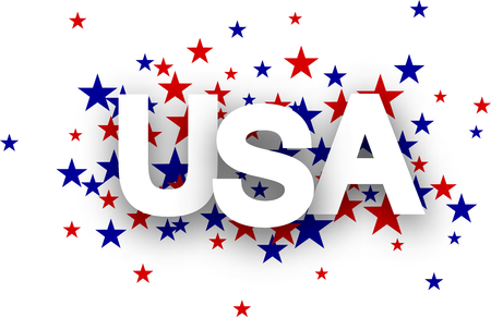 star background: USA sign on star background. Vector Illustration. Illustration