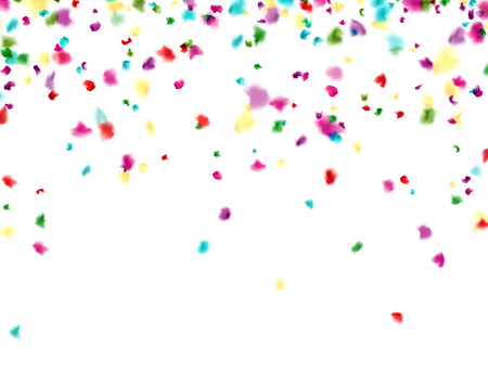 Ð¡elebration background with blurred  confetti. Vector Illustration.