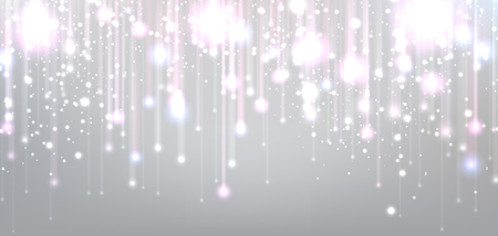 Christmas blurred background with lights. Vector Illustration.