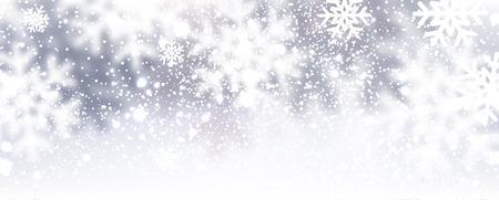 invierno: Fondo de invierno con copos de nieve. Ilustración del vector. Vectores