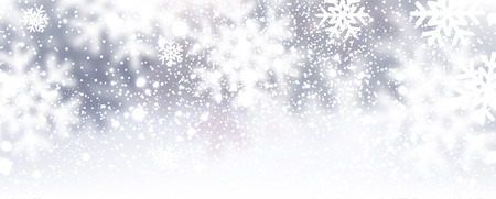Winter background with snowflakes. Vector Illustration. Vettoriali