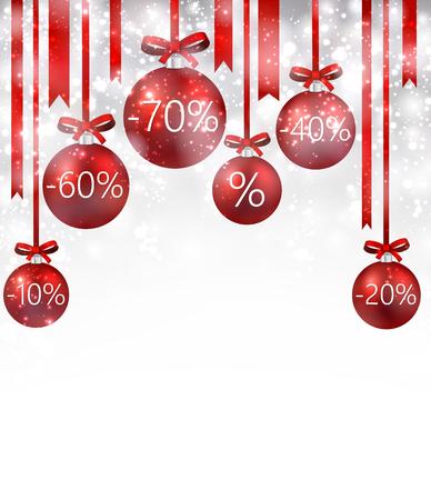 christmas sale: Christmas sale background with balls. Vector Illustration. Illustration