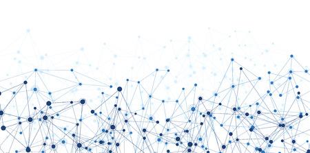 gráfico: Comunicação malha social. Rede fundo poligonal. Ilustração do vetor.
