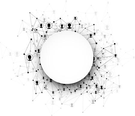 globális kommunikációs: Globális kommunikációs kör háttérben. Vektoros illusztráció.