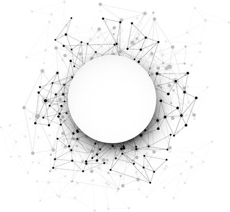comunicación: La comunicación global de fondo redondo. Ilustración del vector. Vectores