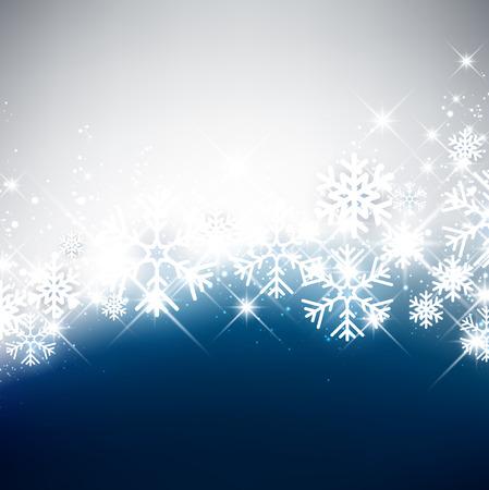 luminous: Winter luminous background with snowflakes. Vector Illustration.