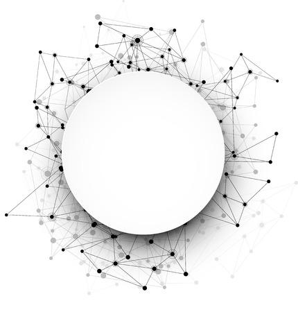 globális kommunikációs: Global communication round background. Vector Illustration.
