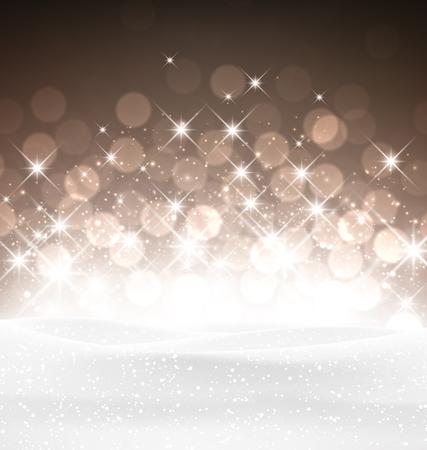 luminous: Winter luminous background. Vector Illustration. Illustration