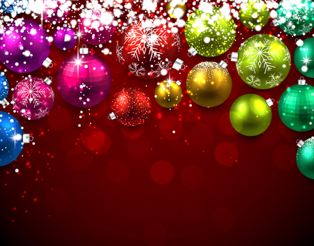 color balls: Christmas background with color balls. Vector Illustration. Illustration