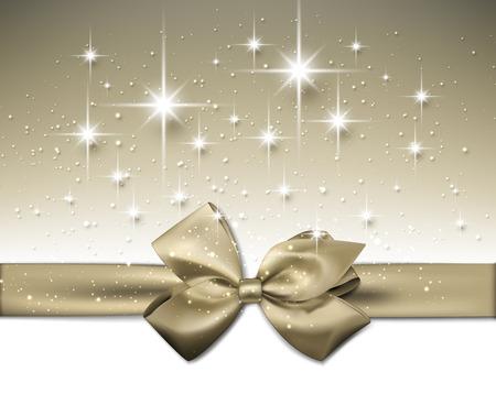 festive: Festive background with gold bow. Vector Illustration. Illustration