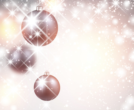 tremolare: New Year flicker background with balls. Vector Illustration.