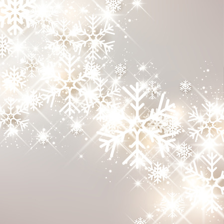 Festive luminous background with snowflakes. Vector Illustration.