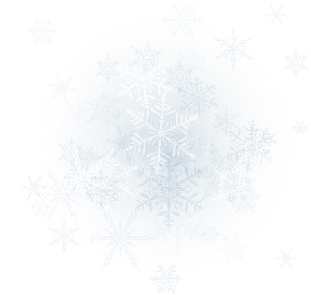 Winter background with snowflakes. Vector Illustration.  イラスト・ベクター素材