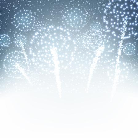 firework: Festive xmas firework background. Vector illustration.