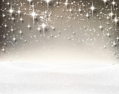 Winter luminous background. Vector Illustration. Stock Illustratie