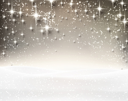 gray: Winter luminous background. Vector Illustration. Illustration