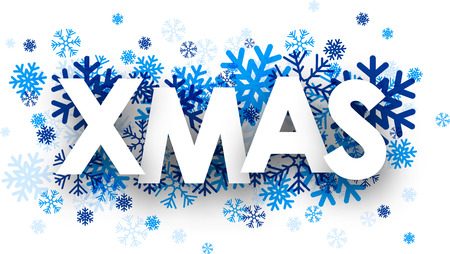 Xmas sign with snowflakes
