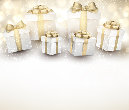 advertisements: Christmas background with gifts