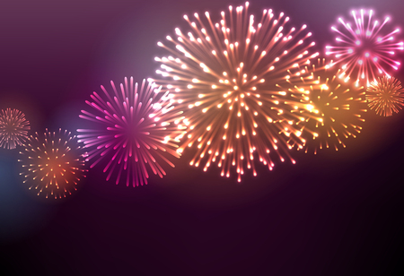 flames: Festive colour firework background