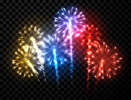 Festive color firework background