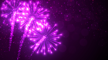 pink christmas: Festive lilac firework background