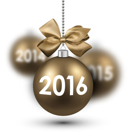 argent: 2016 New Year card with gold balls