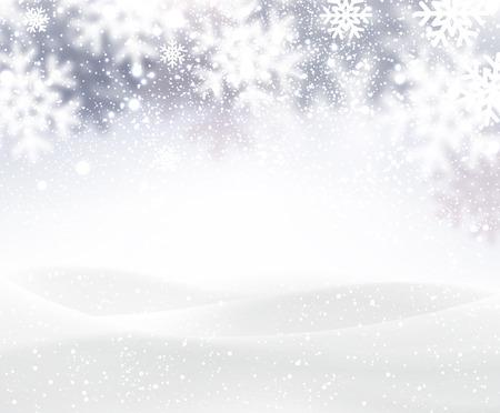 Zima tle z śnieżynkami