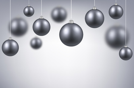 argent: Christmas background with silver balls