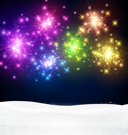 festive background: Festive xmas colour firework background