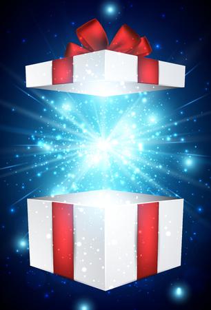 Weihnachten blauen Hintergrund mit Geschenk Standard-Bild - 46289136