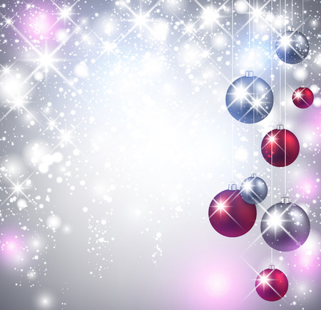 Christmas shining background with balls