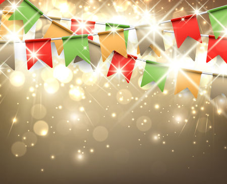 festive background: Festive background with colour flags
