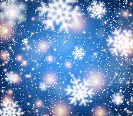 ice: Winter blue background with snowflakes