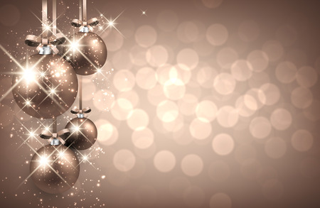 New Year background with balls