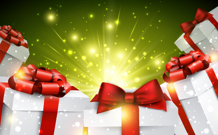 christmas gifts: Christmas background with gifts