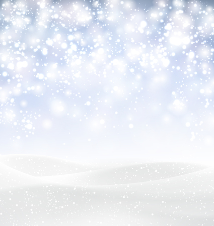 Winter background with snowflakes. Vector Illustration. Illustration