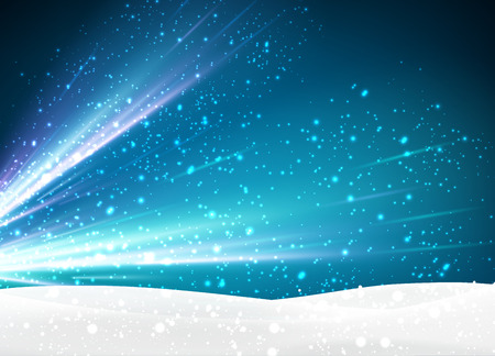 winter background: Winter background with snowflakes. Vector Illustration. Illustration
