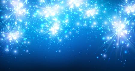 luminous: Festive luminous blue background.