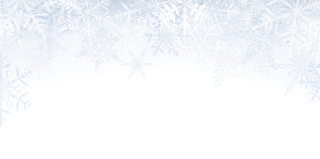 crystallize: Winter banner pattern with crystallize transparent snowflakes and place for text.