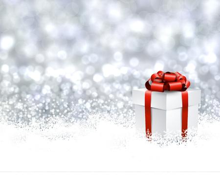 Sfondo Natale con il regalo.