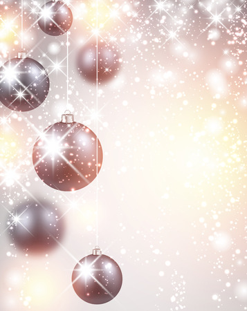 silver: New Year flicker background with balls.
