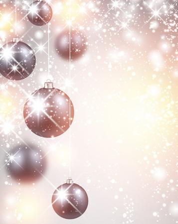 winter background: New Year flicker background with balls.