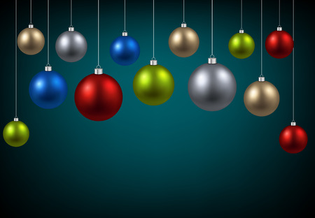 argent: New Year background with colourful balls.